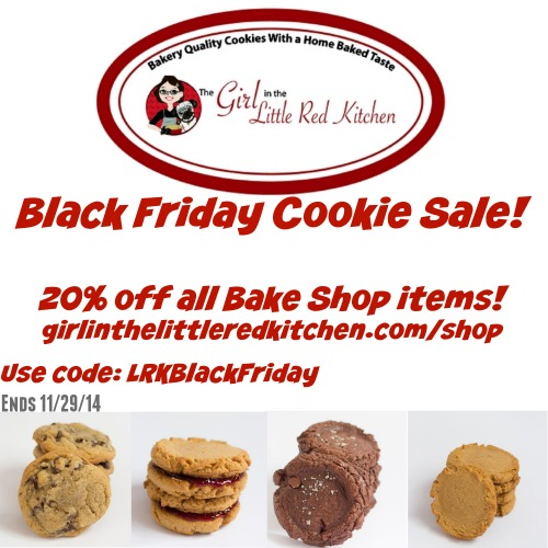 Girl In The Little Red Kitchen Bake Shop Black Friday Sale!
