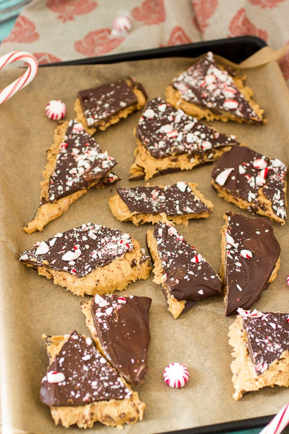 Buckeye Peppermint Bark by The Girl In The Little Red Kitchen