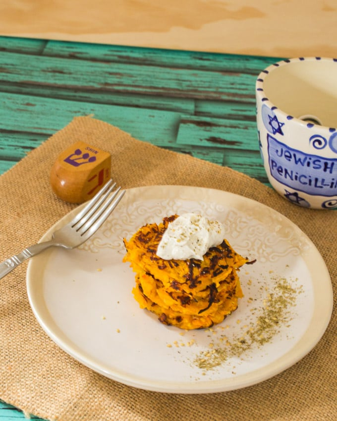 Butternut Squash Latkes | The Girl In The Little Red Kitchen