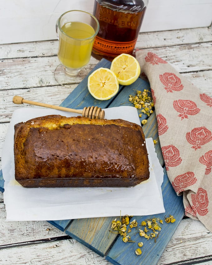 Honey Chamomile Hot Toddy Tea Cake | The Girl In The Little Red Kitchen
