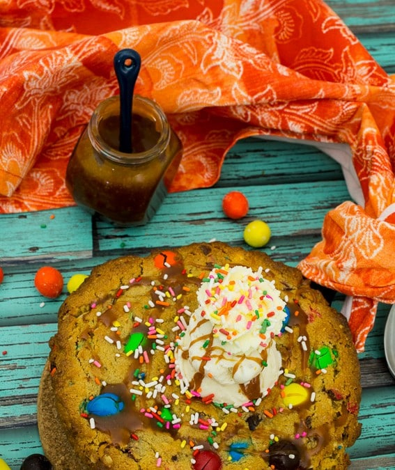 Monster Cookie Cake {#ChristmasWeek + Giveaway}