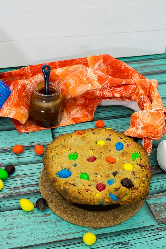 Monster Cookie Cake |The Girl In The Little Red Kitchen