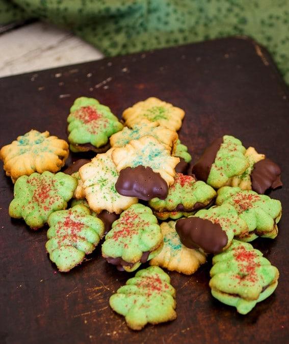 Peppermint Spritz Cookies {#ChristmasWeek + Giveaway}