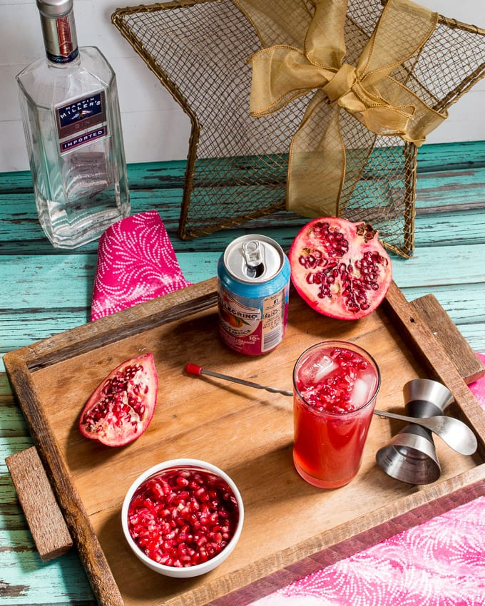 Pomegranate Gin Fizz from The Girl In The Little Red Kitchen