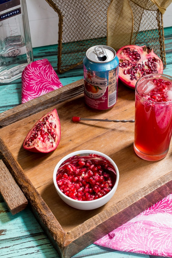 Pomegranate Gin Fizz | The Girl In The Little Red Kitchen