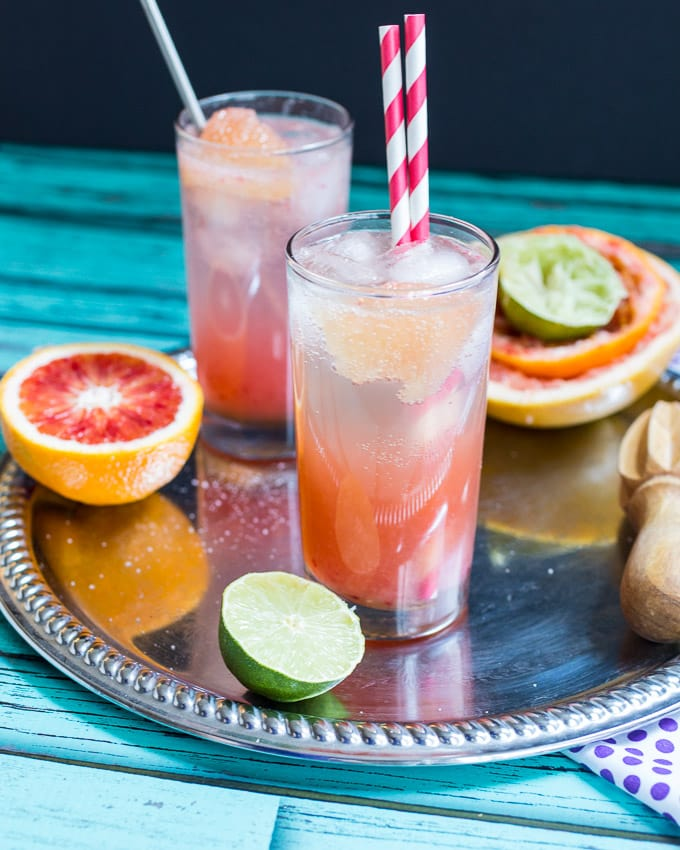 Blood Orange Bourbon Paloma | The Girl In The LIttle Red KItchen