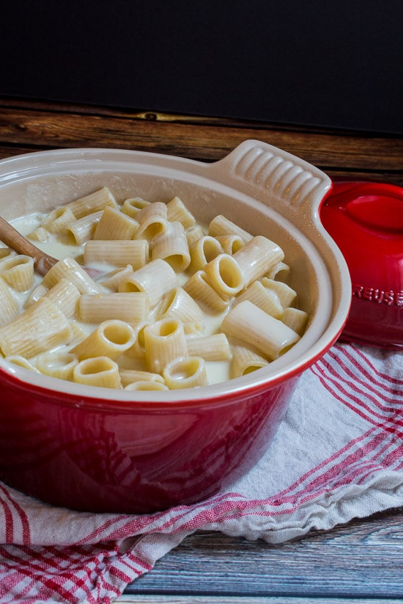 Four Cheese Mac and Cheese- The Girl In The Little Red Kitchen