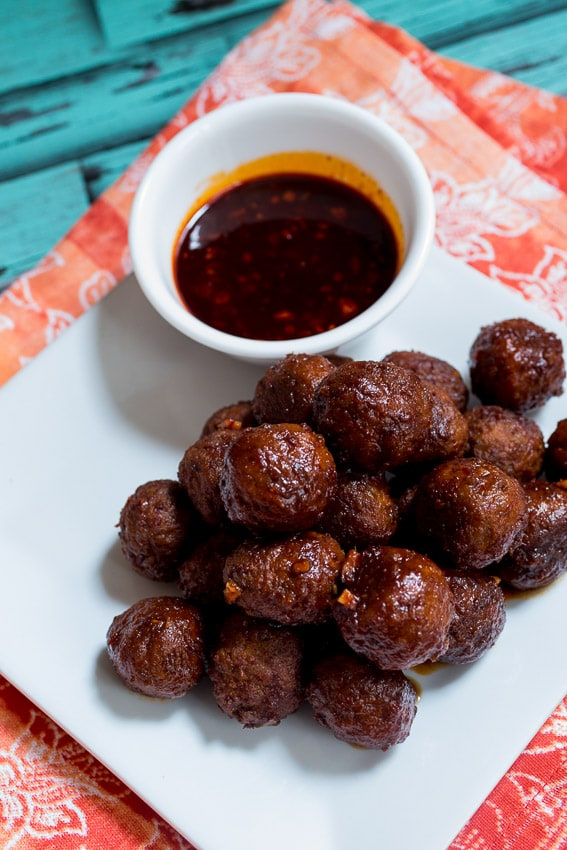 Spicy Korean Meatballs from The Girl In The Little Red KItchen