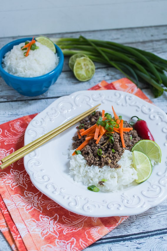 Thai Beef and Lemongrass | girlinthelittleredkitchen.com