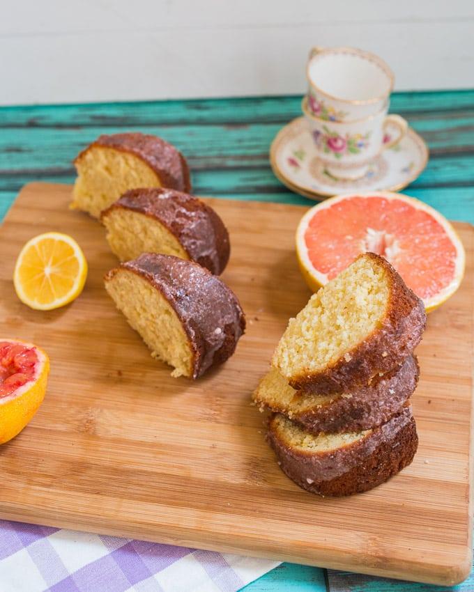 Three Citrus Cake | girlinthelittleredkitchen.com