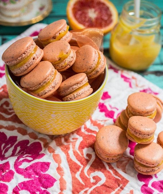 Blood Orange Macarons