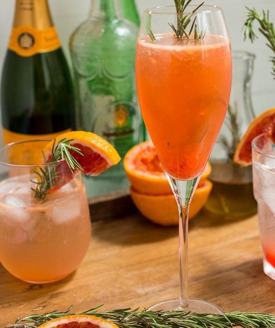 Blood Orange Rosemary Spritzer #SundaySupper