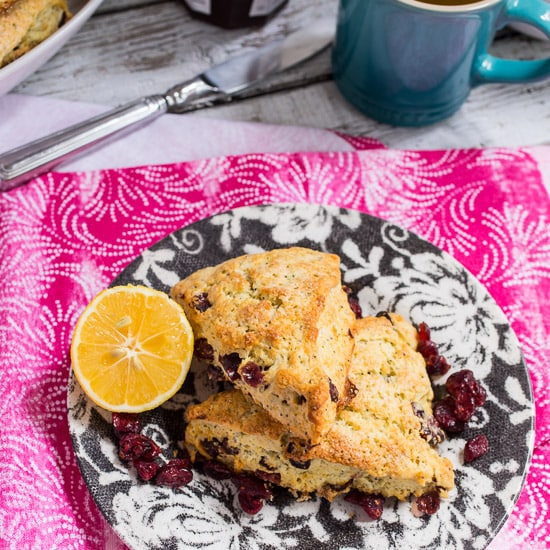 Meyer Lemon Poppyseed Cranberry Scones