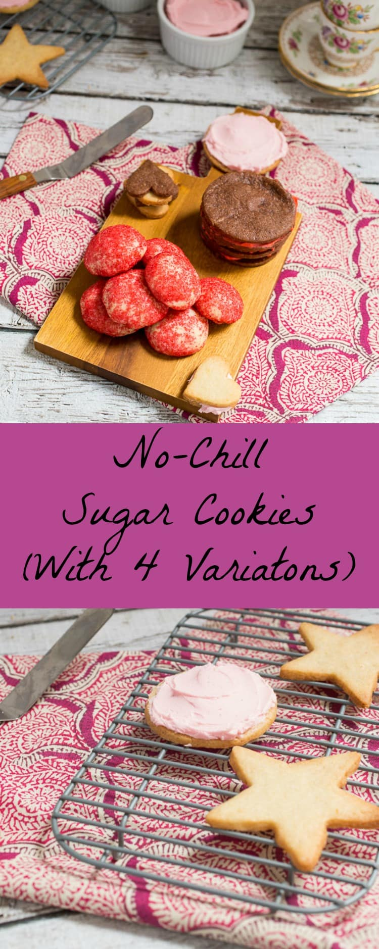 4 Variations on a Sugar Cookie | girlinthelittleredkitchen.com