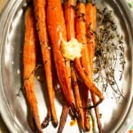 Hot Honey Thyme Roasted Carrots-3