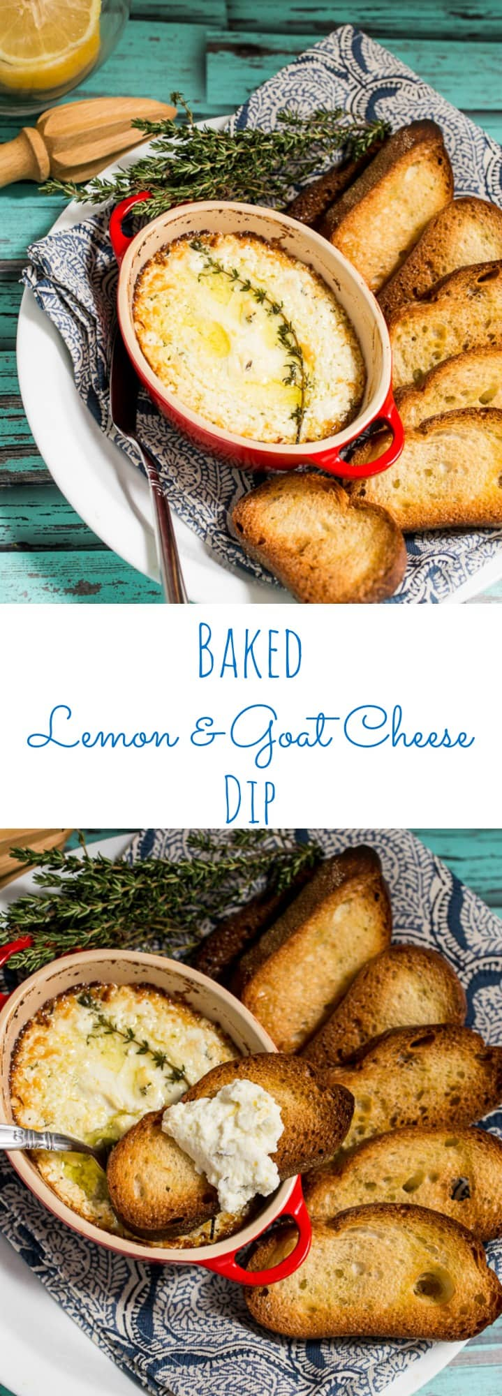 Baked Lemon and Goat Cheese Dip