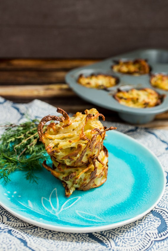 Spiralized Potato and Fennel Kugel from The Girl In The Little Red Kitchen