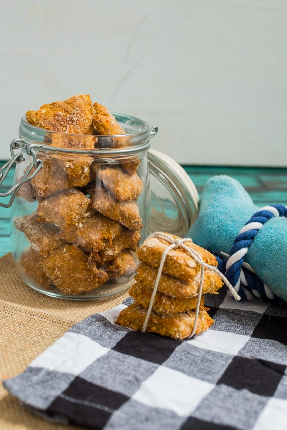 Sweet Potato Banana Dog Biscuits from The Girl In The Little Red Kitchen