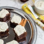 Mexican Chocolate Brownies with Tequila Lime Buttercream