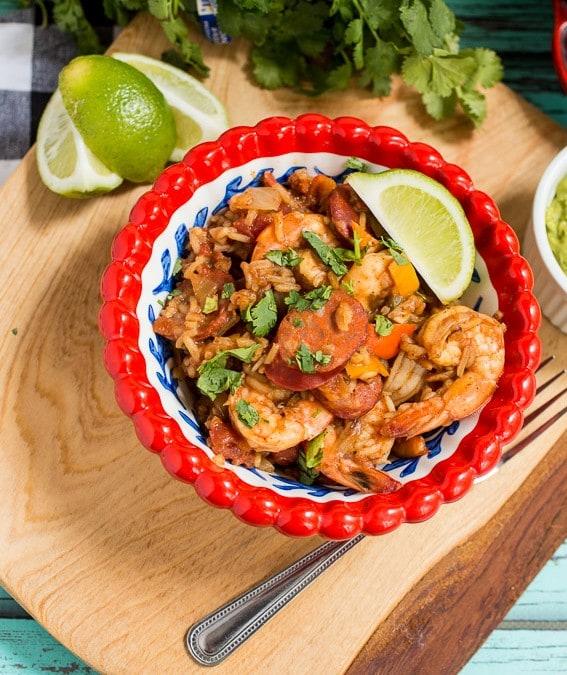 Shrimp and Chorizo Jambalaya