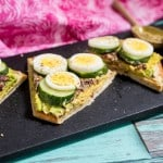 Avocado Egg and Cucumber Hummus Toast-4