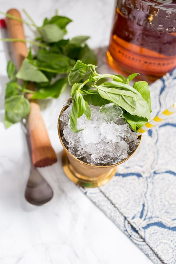 Basil Julep | girlinthelittleredkitchen.com