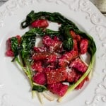 Beet Ricotta Gnocci with Ramps-5