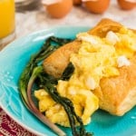 Goat Cheese Scrambled Eggs with Ramps-4