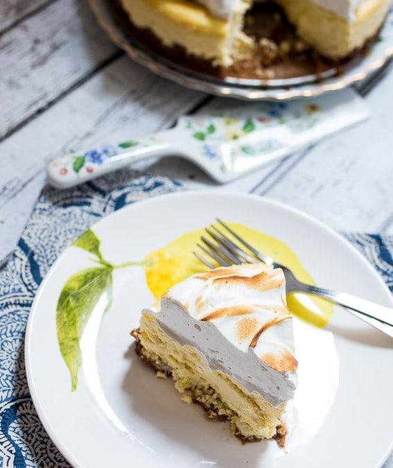 Lemon Drop Meringue Cheesecake