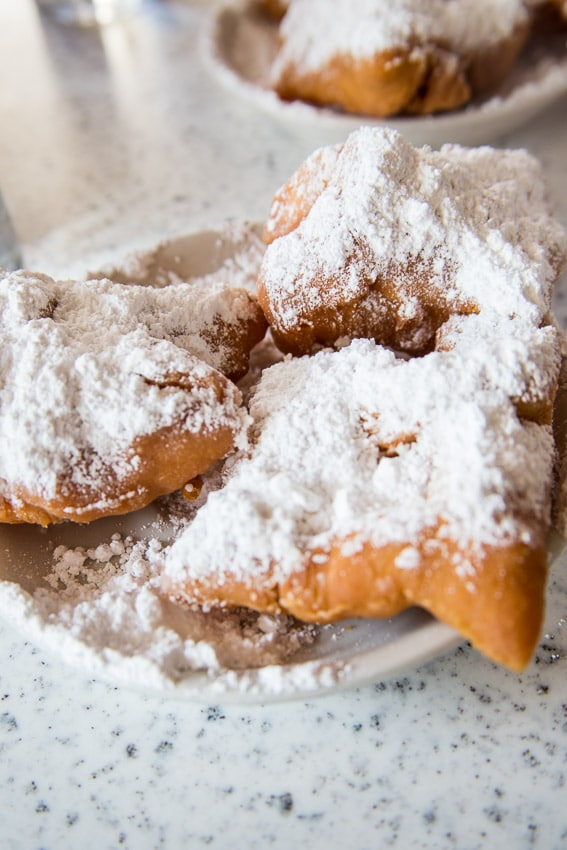 Beignets at Cafe du Monde | girlinthelittleredkitchen.com