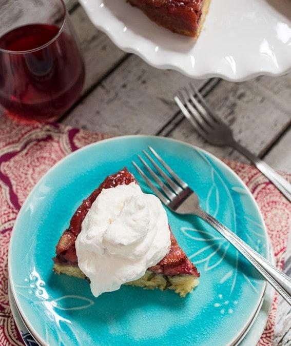 Strawberry Basil Upside Down Cake #SundaySupper