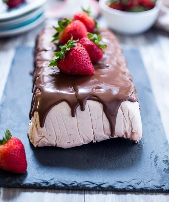 Chocolate Covered Strawberry Semifreddo