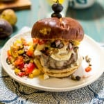 Mediterranean Brie Burger with Olive Fig Relish - The Girl In The Little Red Kitchen-7