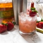 Strawberry Rhubarb Whiskey Smash-4