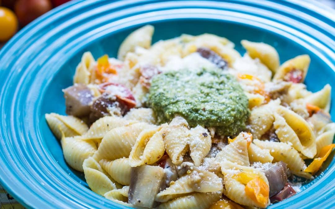 Eggplant Parmesan Pasta