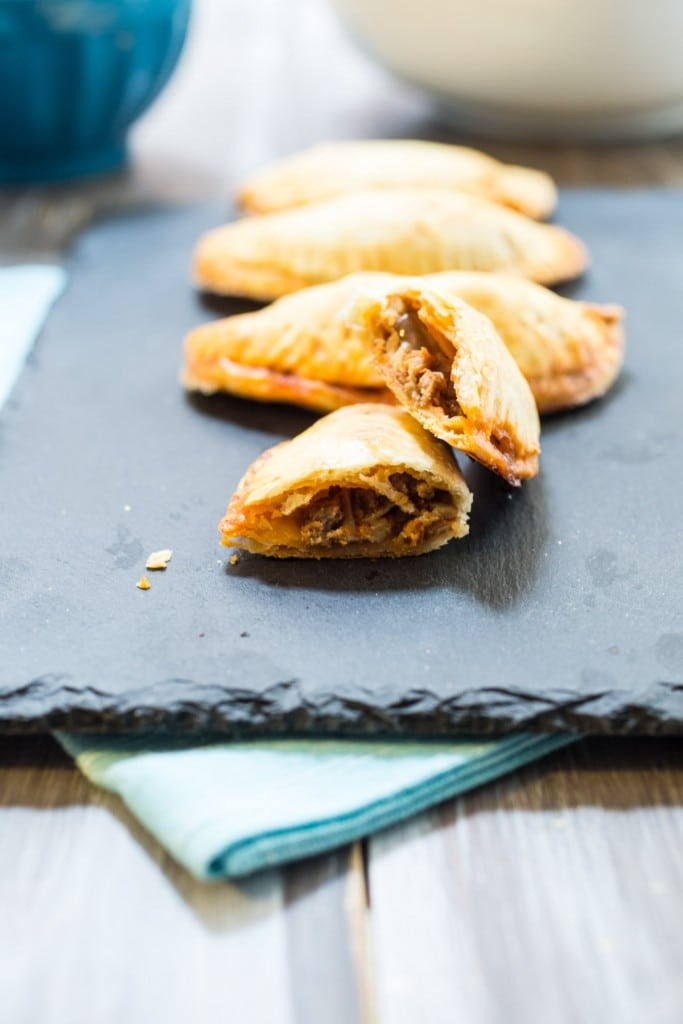 Beef and Chorizo Empanadas | girlinthelittleredkitchen.com