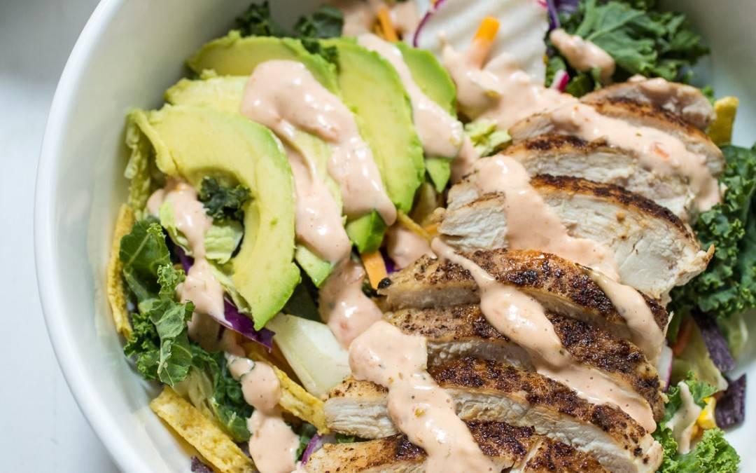 Spicy Chicken Avocado Salad