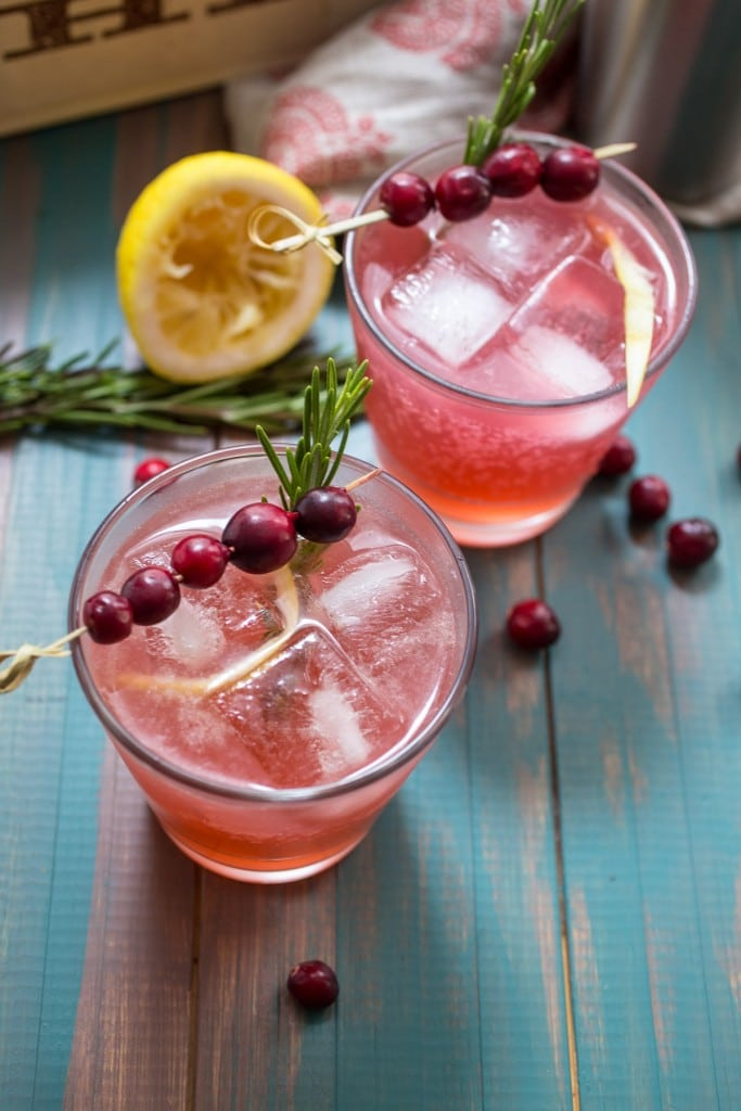 Cranberry Whiskey Sour from The Girl In The Little Red Kitchen