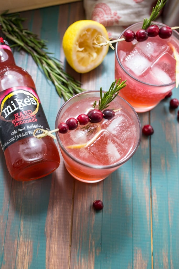 Cranberry Whiskey Sour | girlinthelittleredkitchen.com