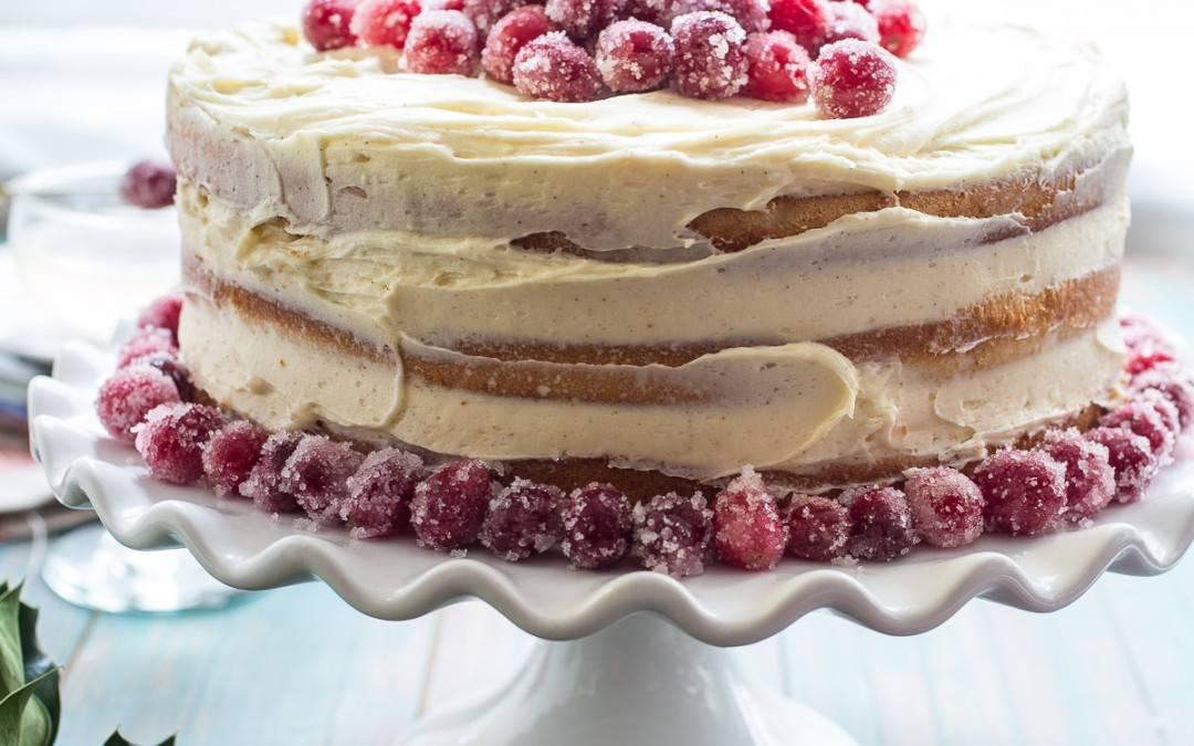 Cranberry Champagne Cake