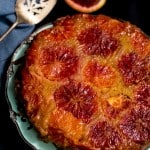 Blood Orange Almond Upside Down Cake