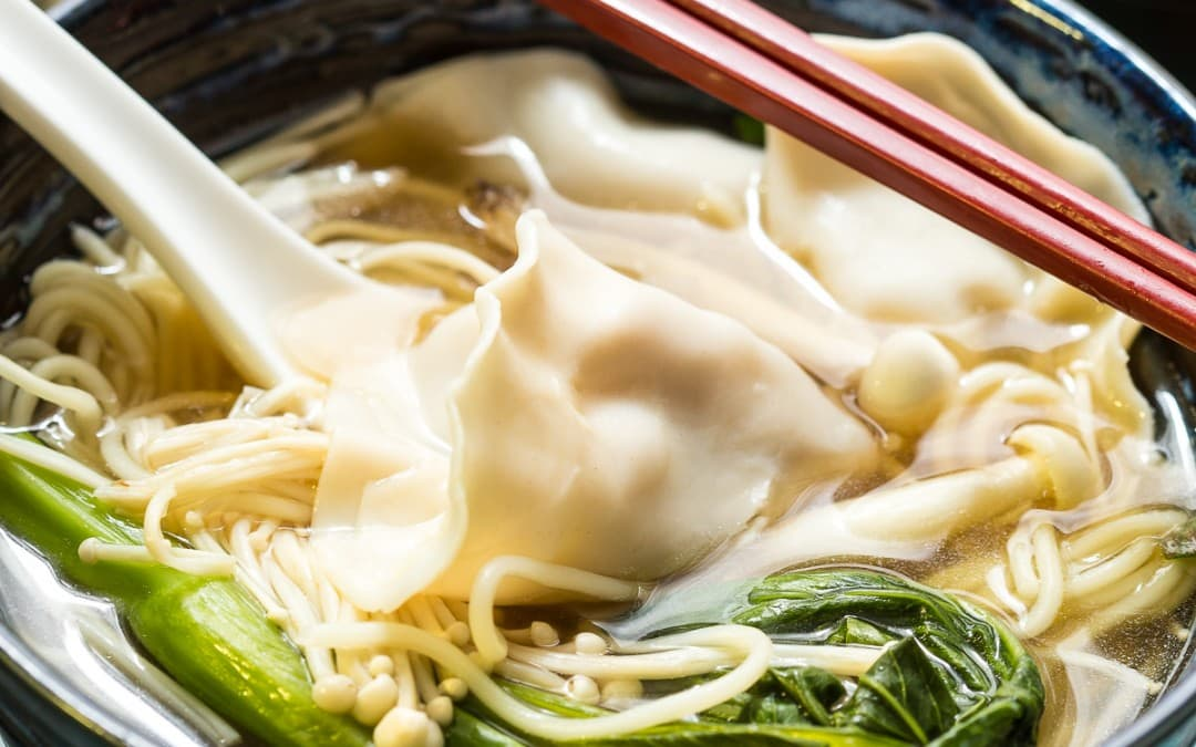 Chicken Mushroom Dumpling and Noodle Soup