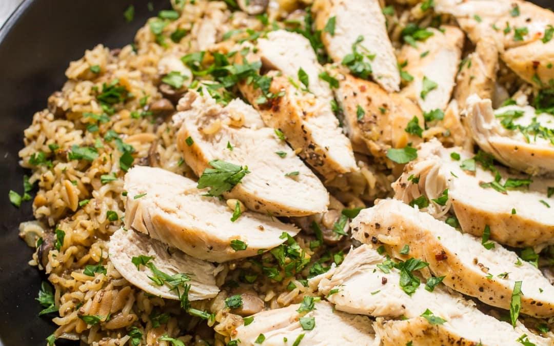 Chicken Mushroom Rice Skillet