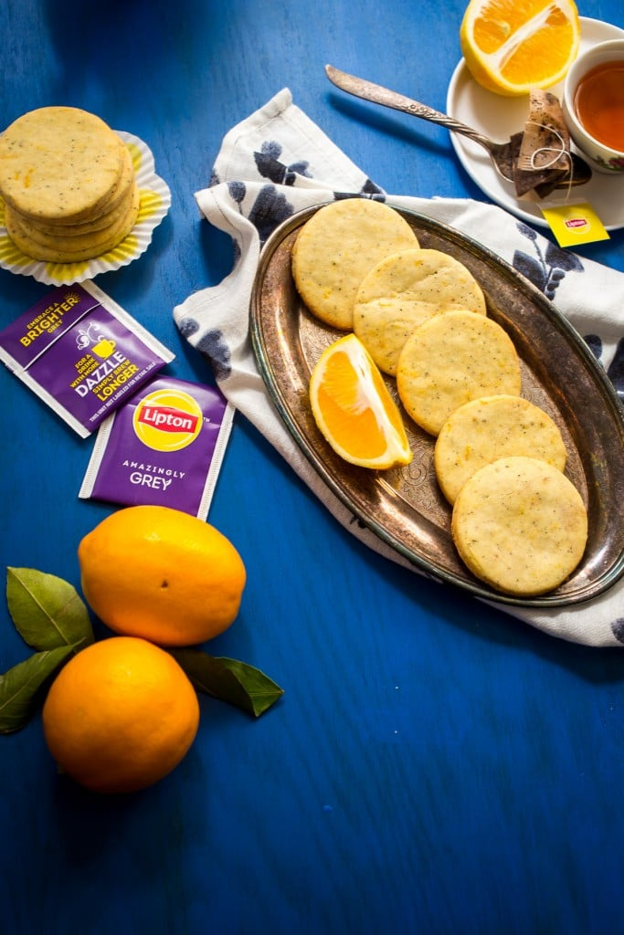 Meyer Lemon Earl Grey Shortbread | girlinthelittleredkitchen.com