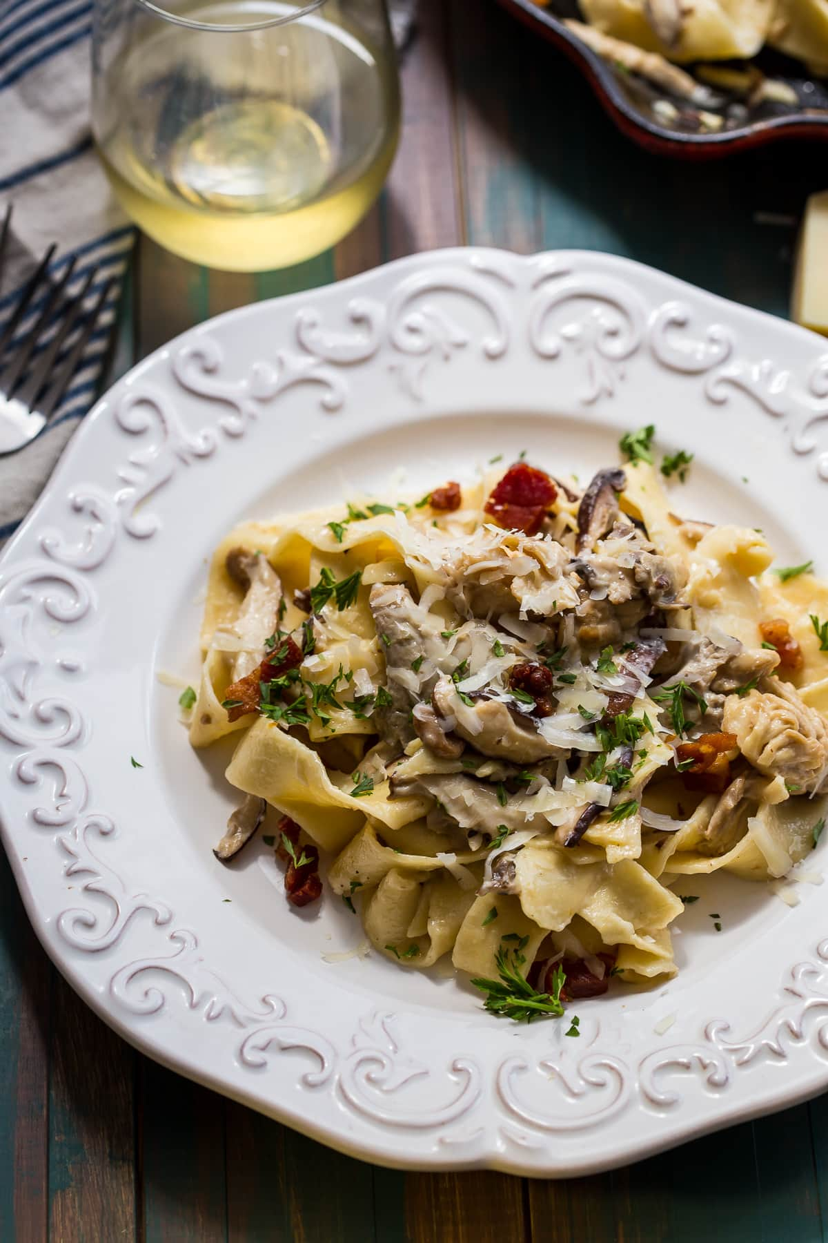 Mushroom Pappardelle With Taleggio Cheese Recipes — Dishmaps