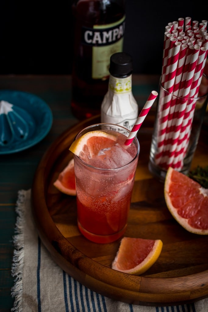 Blushing Grapefruit Collins from The Girl In The Little Red Kitchen