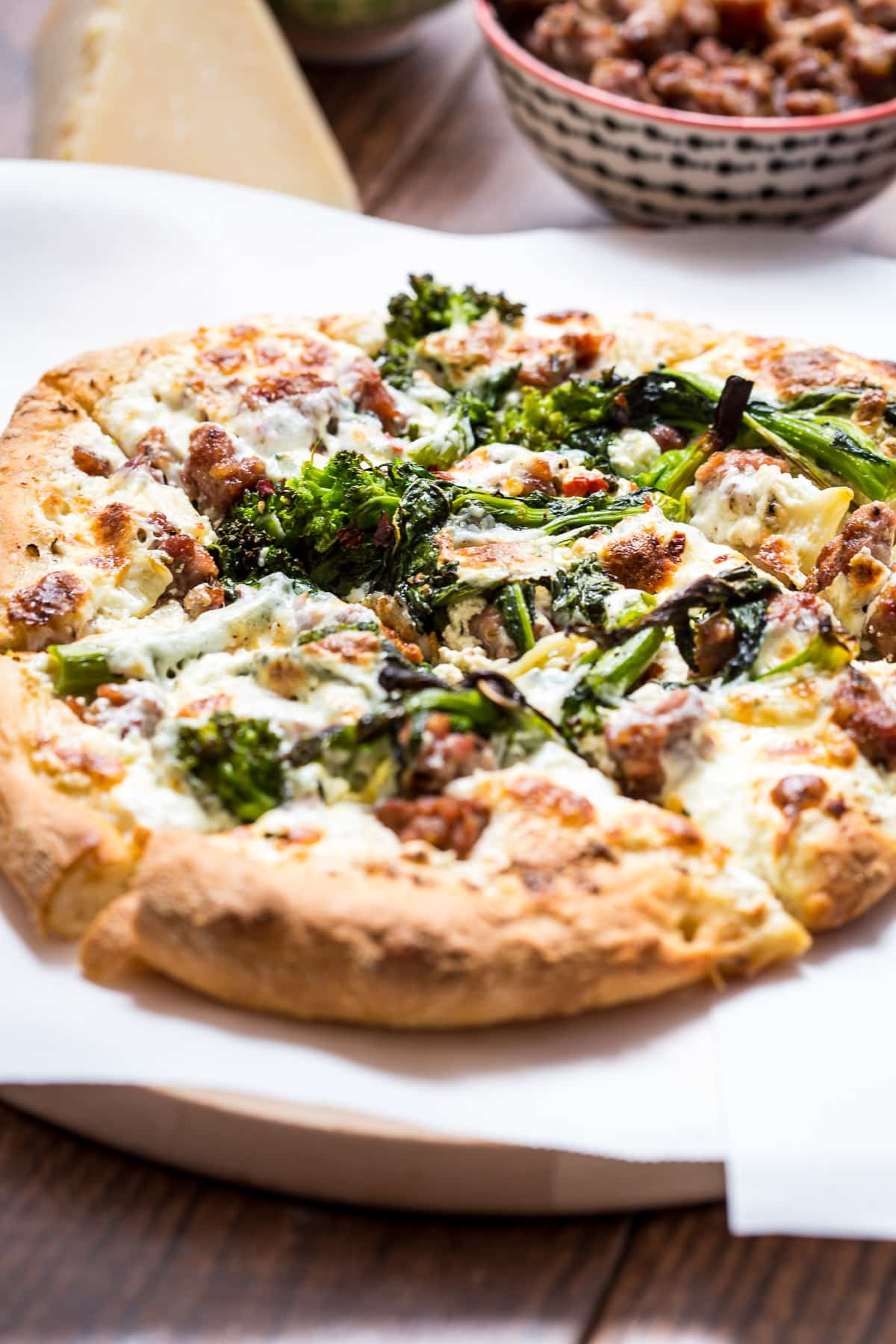 pizza night at home with veggie packed Broccoli Rabe and Sausage Pizza ...