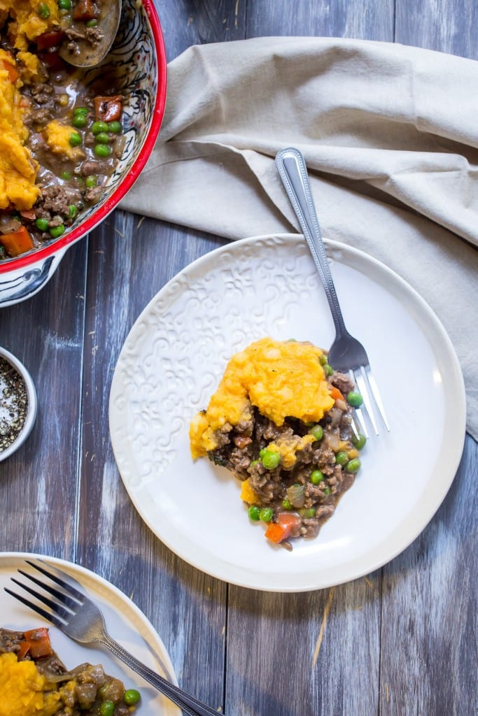 Butternut Squash Shepherd's Pie | girlinthelittleredkitchen.com