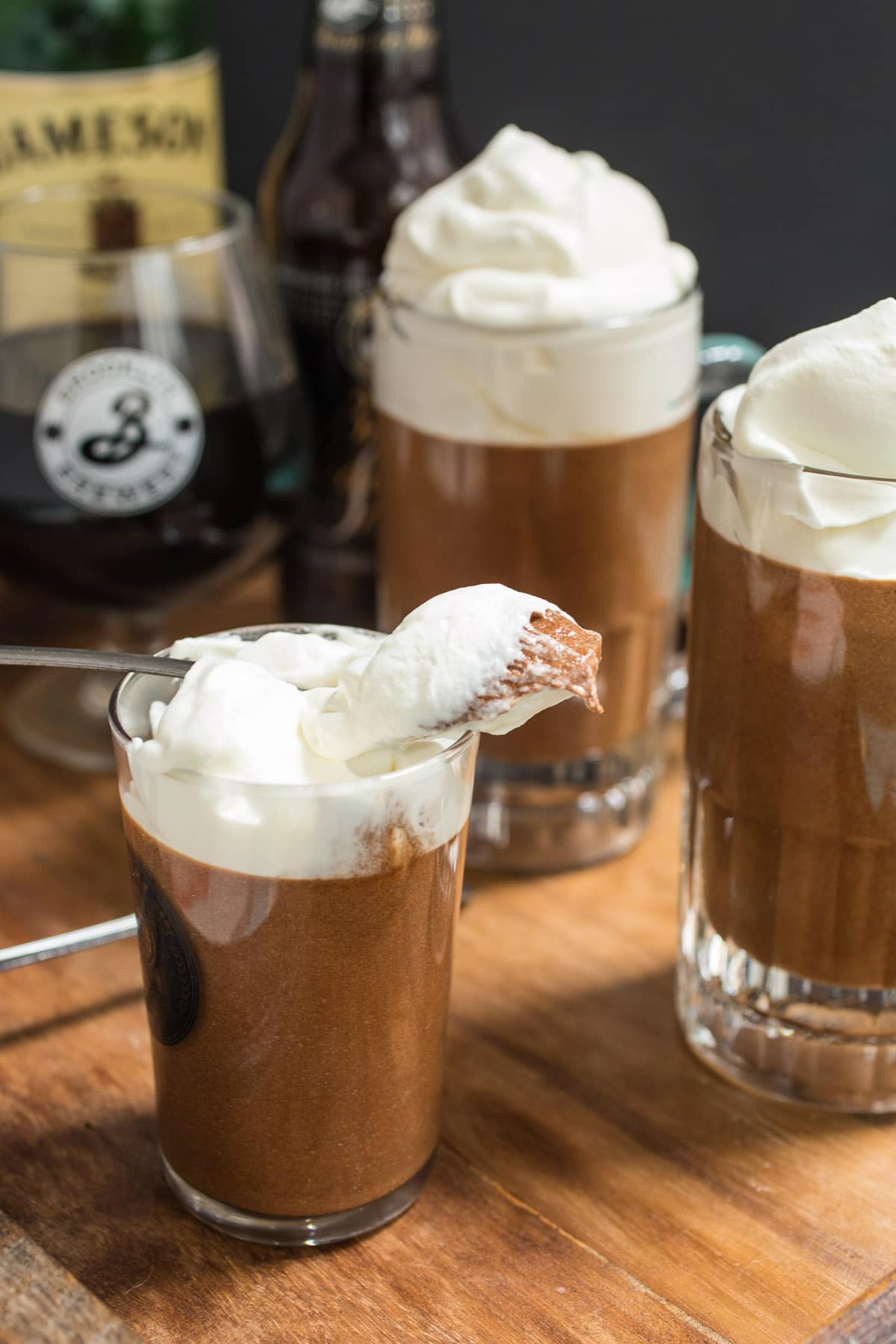 Chocolate Stout Mousse with Whiskey Cream   The Girl in the Little ...