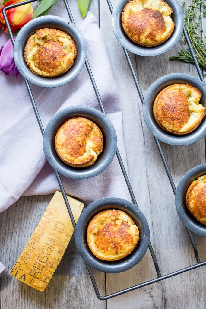 Parmesan Herb Popovers from The Girl In The Little Red Kitchen